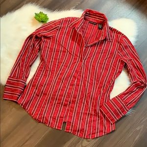 New York & Company Stretch Button Down Blouse